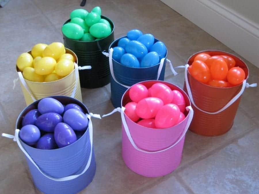 color coordinated easter egg hunt