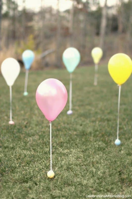balloon easter egg hunt idea