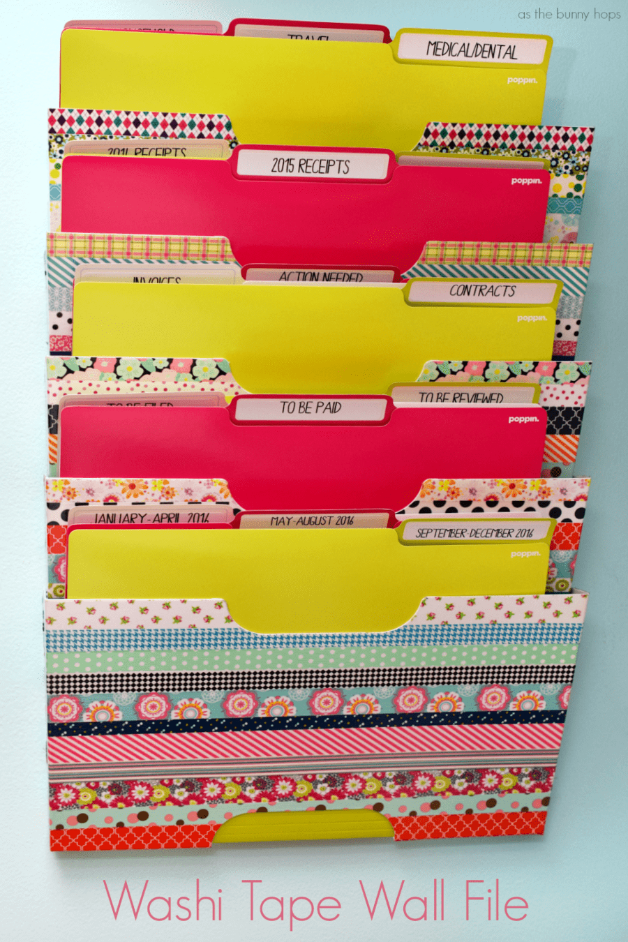 Organize your office supplies with washi tape - A girl and a glue gun