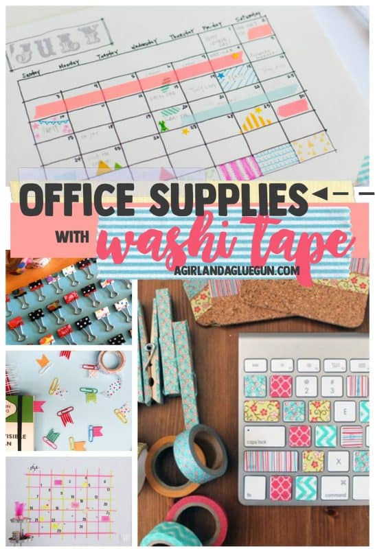 Organize Your Office Supplies With Washi Tape A Girl And