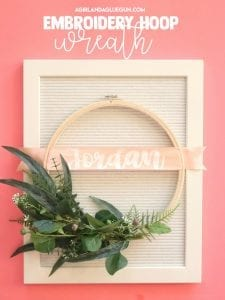 fun embroidery hoop wreath