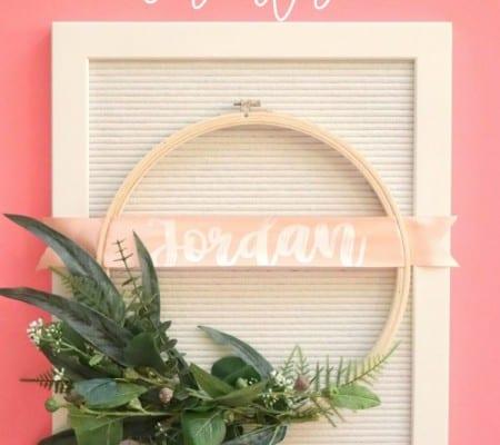 fun embroidery hoop wreath