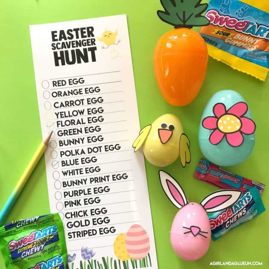 Easter Egg Hunt ideas free Printables - A girl and a glue gun