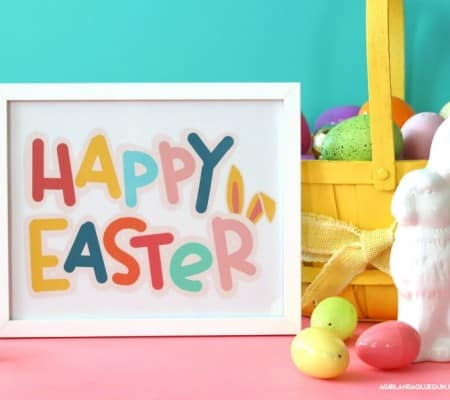 free colorful printable for easter