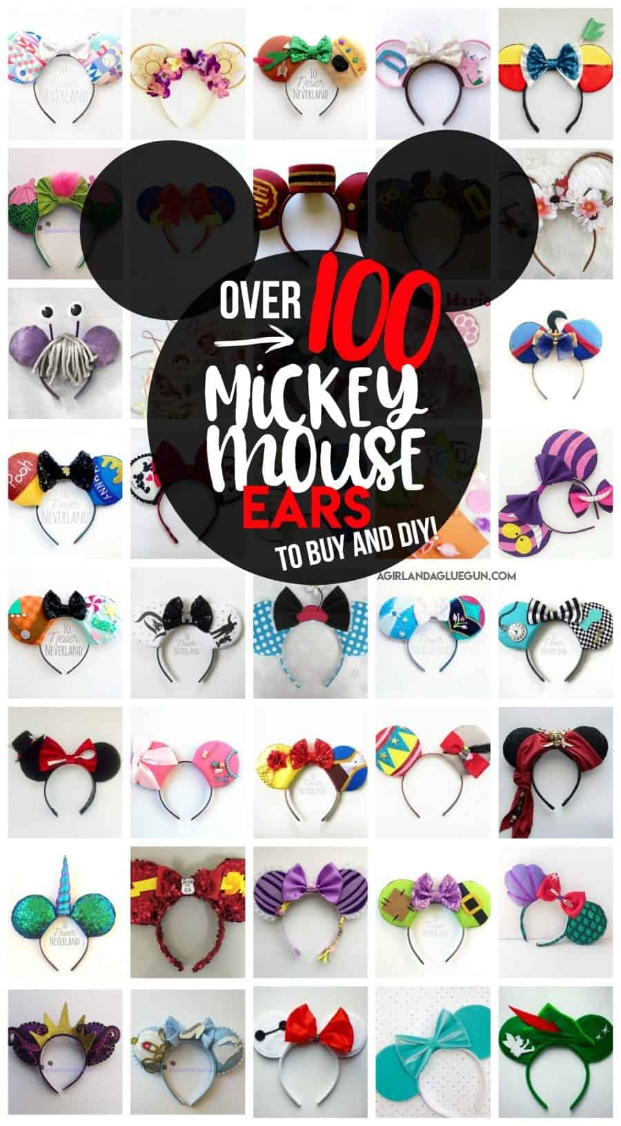 100 Mickey Mouse Ears A Girl And A Glue Gun