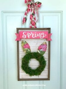 DIY Spring wreath Easter bunny