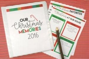 fun christmas binder to hold your memories