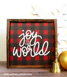 joy to the world buffalo check sign