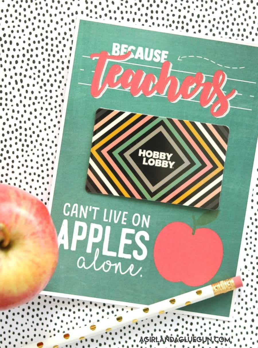 Teacher gift card printable a girl and a glue gun i also have a big huge roundup on my blog about all the teacher gifts that teachers actually want and gift cards were on there you can head here to read negle Choice Image