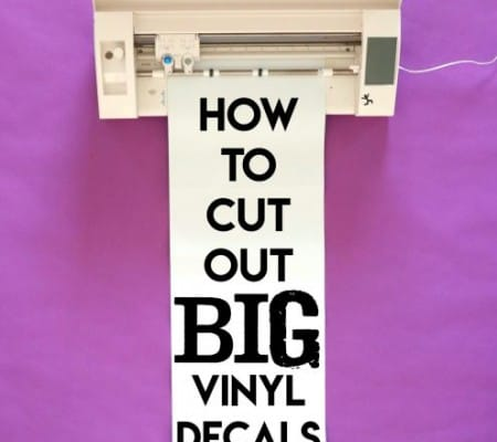 how to cut out big vinyl decals with a silhouette or cricut a girl and a glue gun