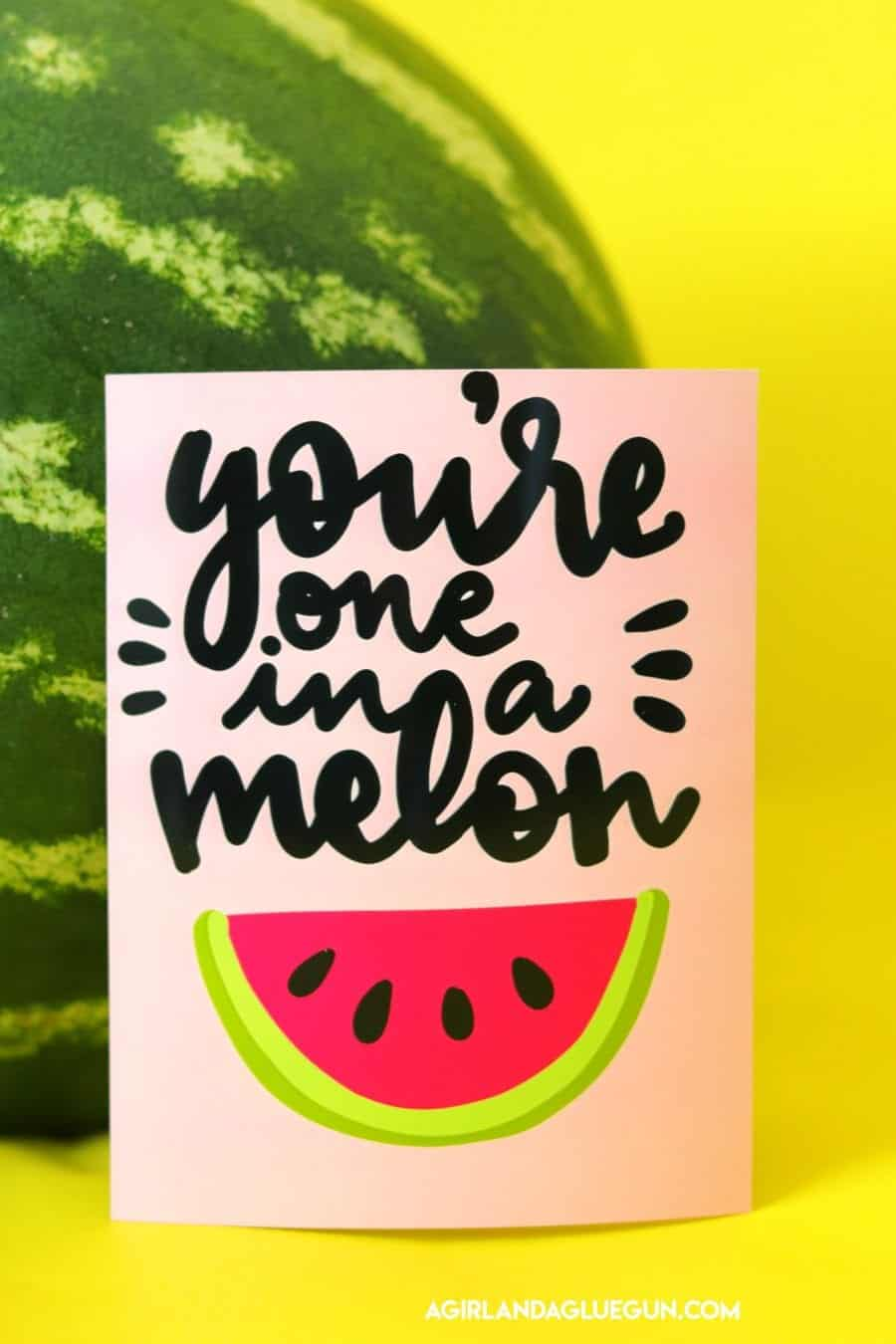 photograph about Watermelon Printable referred to as Summer months Watermelon reward thought with totally free printable - A woman and