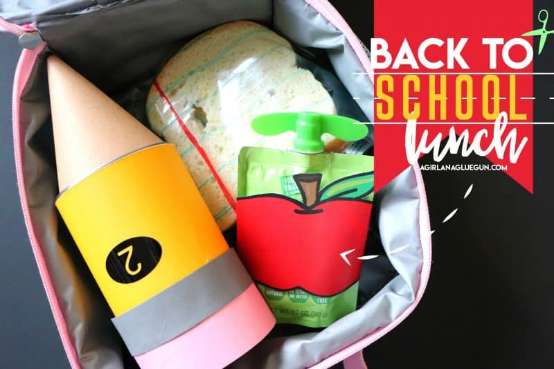 First Day Of School Lunch Idea