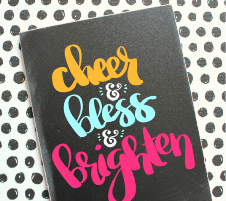 cheer and bless and brighten cut file for silhouette cameo or cricut