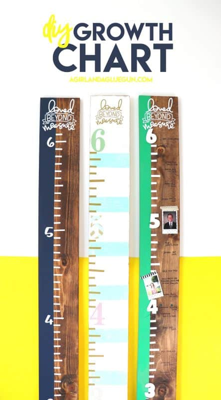 How To Make A Growth Chart A Girl And A Glue Gun