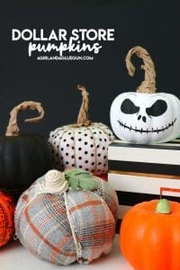 dollar store pumpkins diy ideas