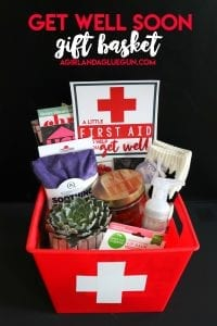 get well soon gift basket idea first aid kit