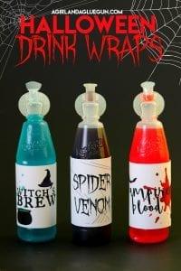 halloween drink wraps