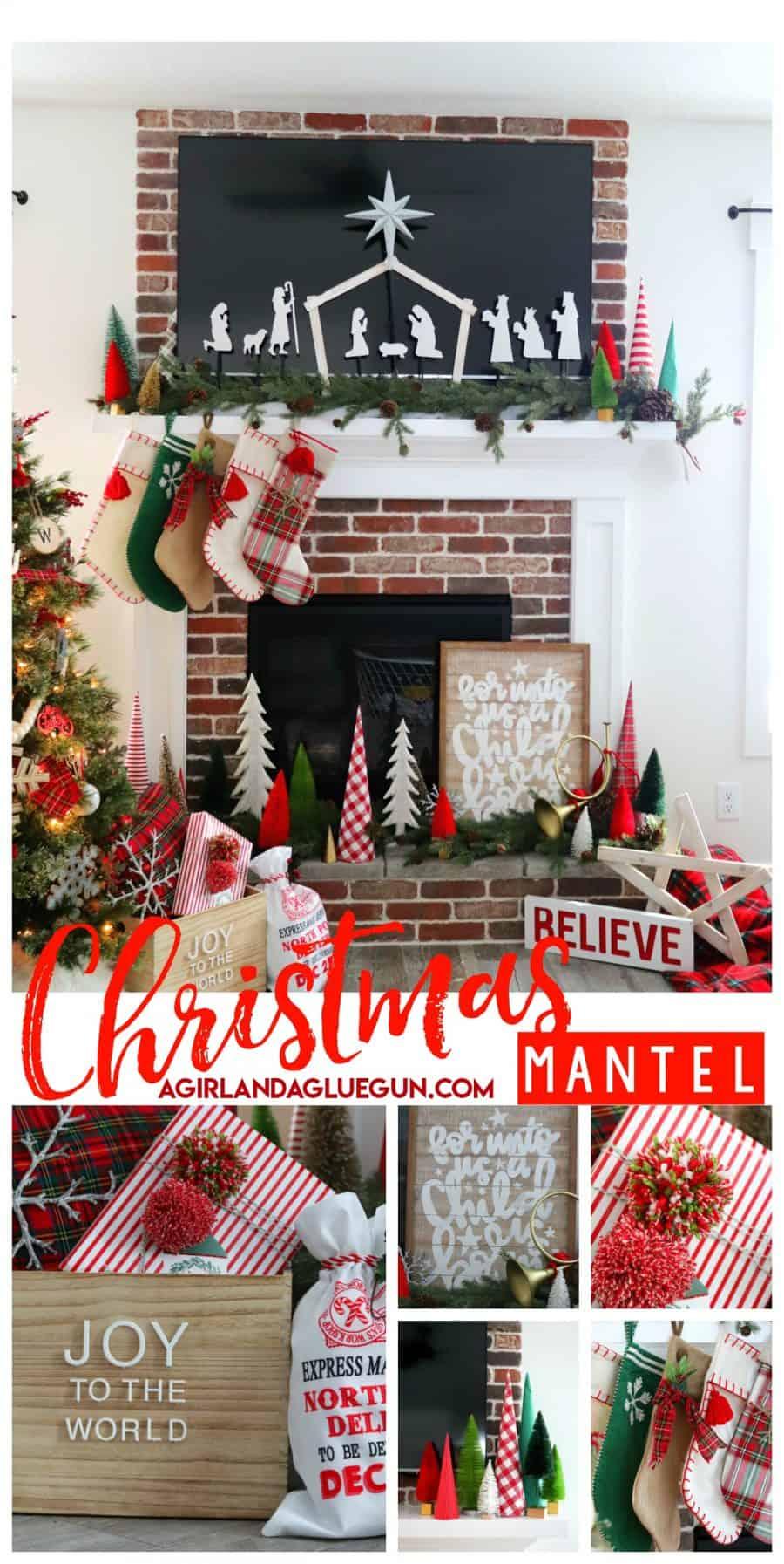 Christmas Mantel.Christmas Mantel Diy A Girl And A Glue Gun