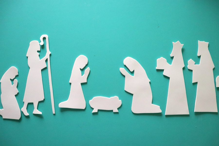 cut out the nativity