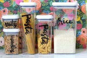 pantry labels with craft vinyl