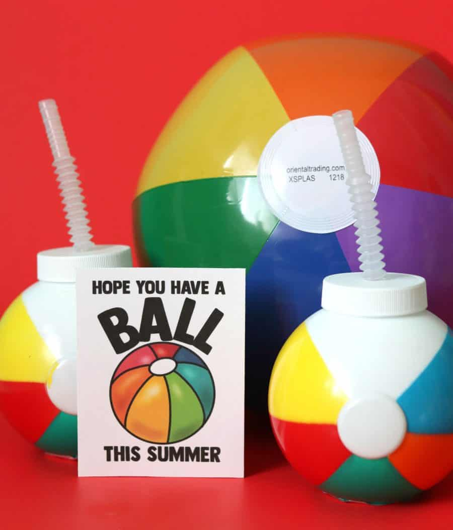 photo regarding Have a Ball This Summer Printable named Free of charge Summer time Printables - A female and a glue gun