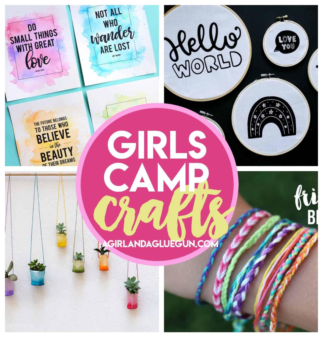 Girl S Camp Crafts A Girl And A Glue Gun