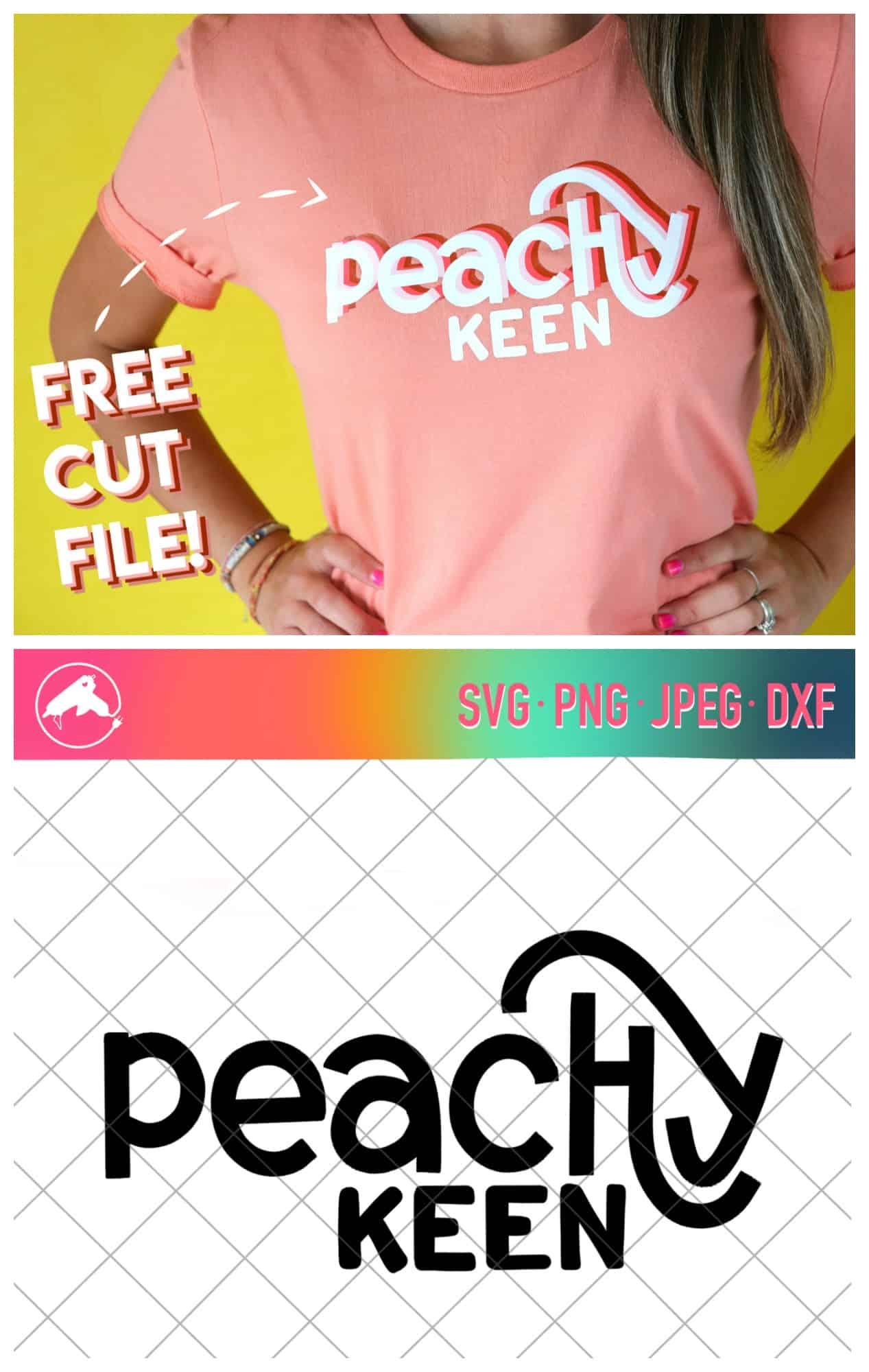Peachy keen free cut file - A girl and a glue gun