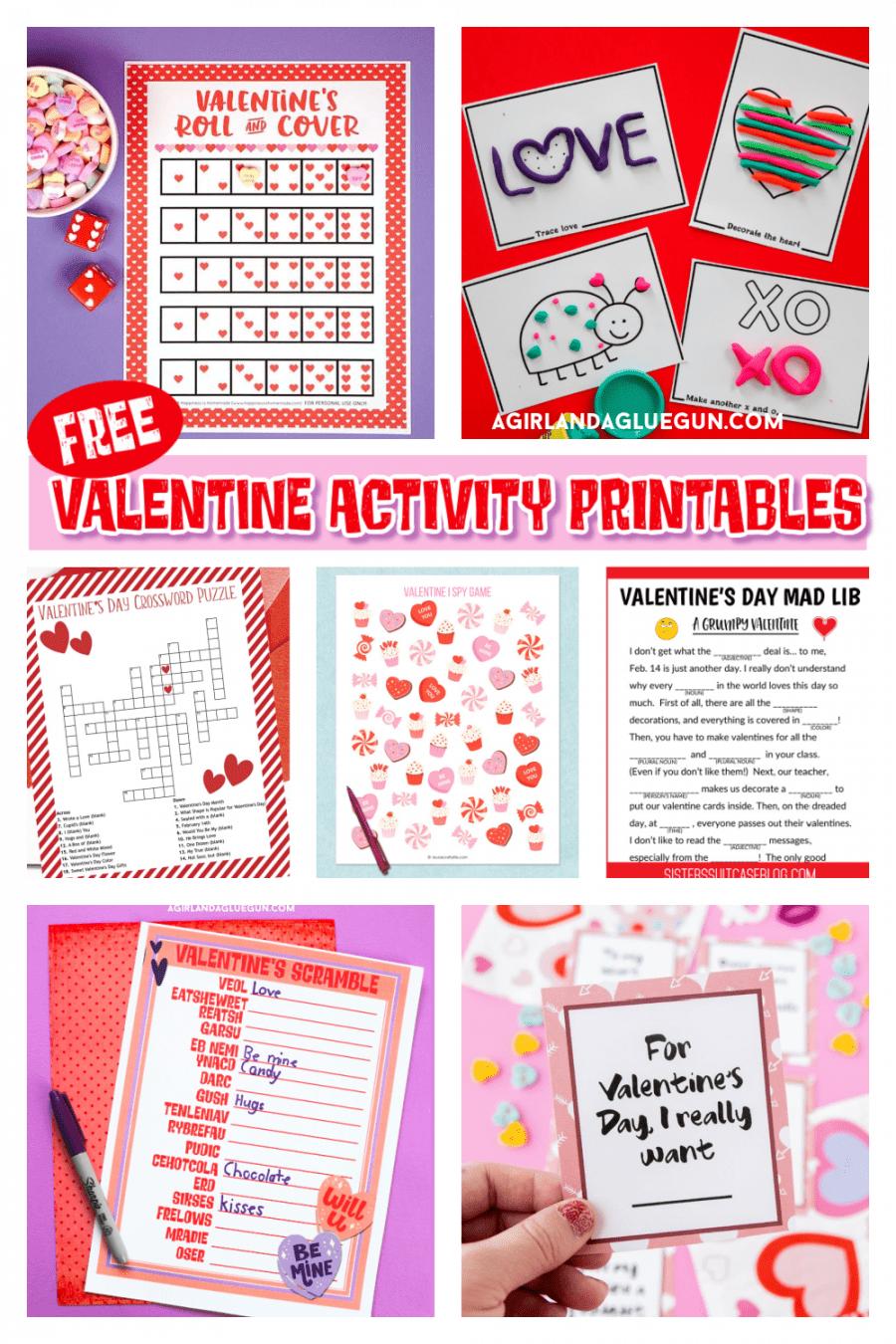 20 free Valentine activity printables