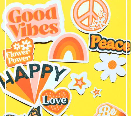 retro sticker set