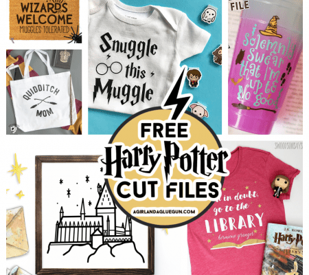 free harry potter svg cut files for cricut and silhouette cameo a girl and a glue gun