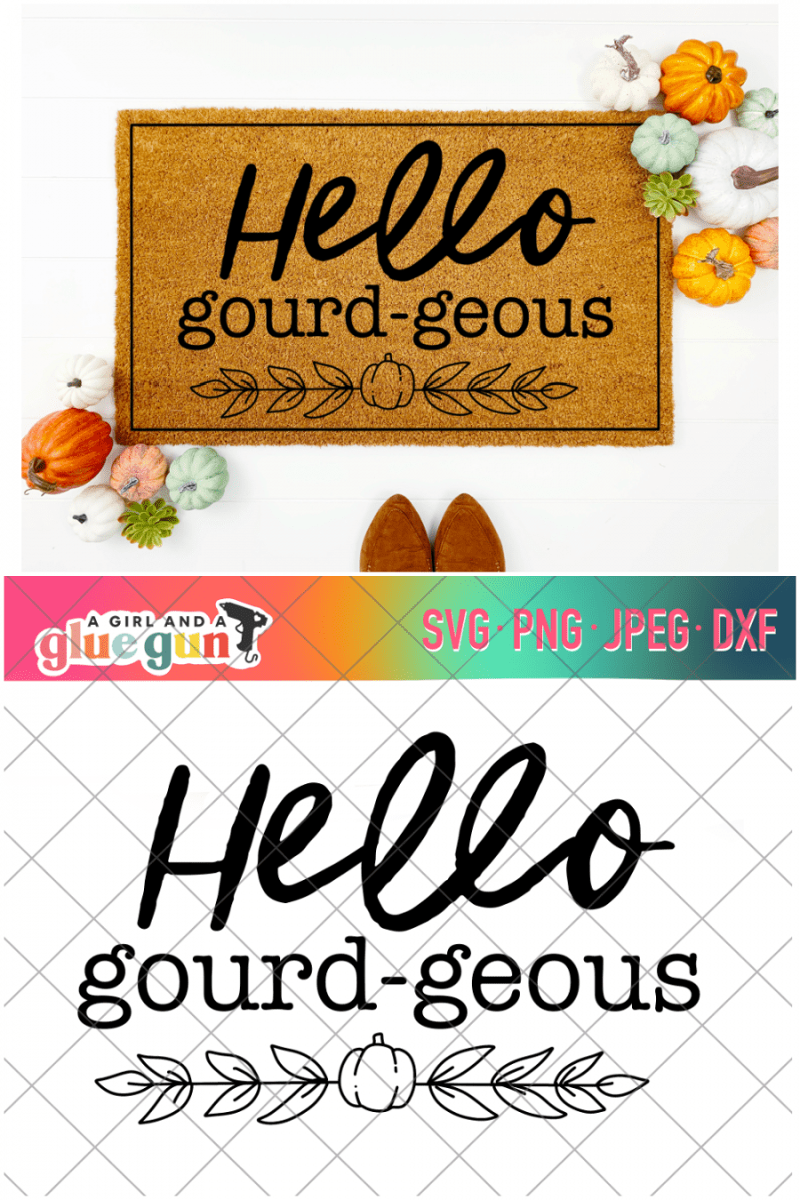 free fall cut file hello gourdgeous svg cricut and silhouette cameo