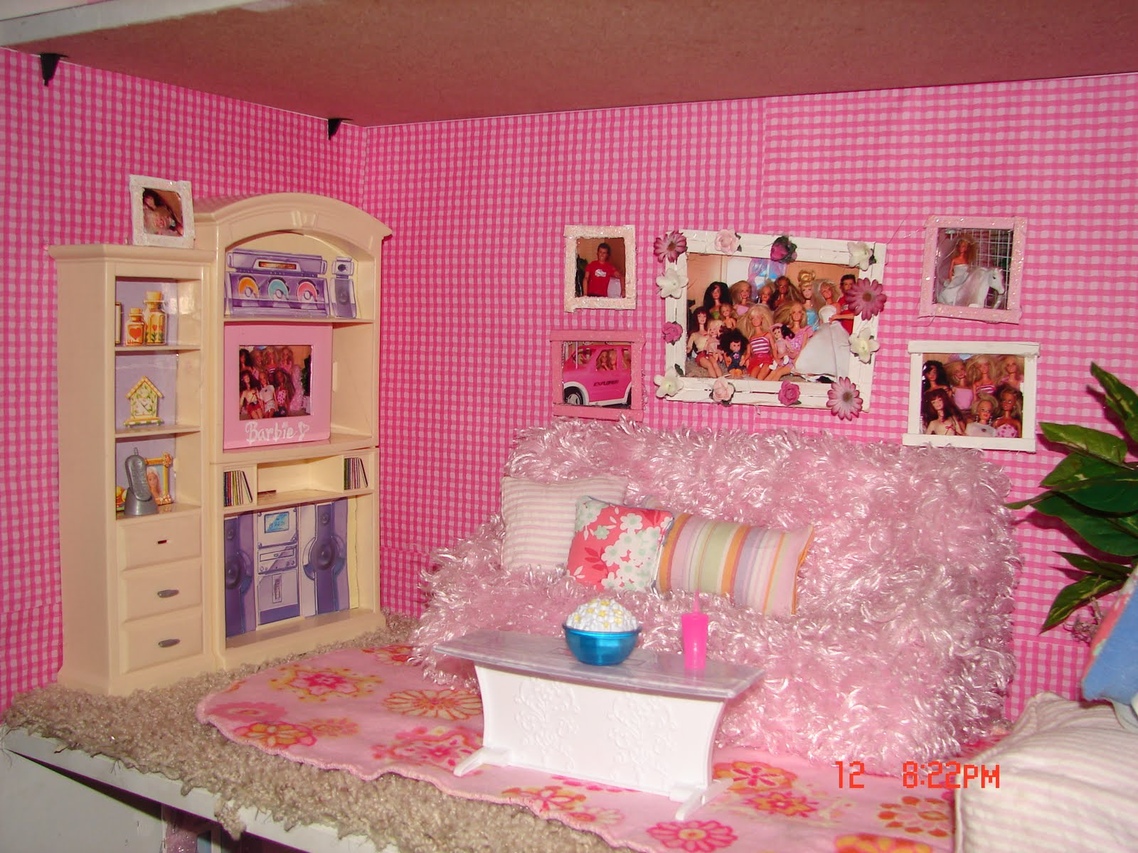 Diy barbie house from a shelf a girl and a glue gun the picture frames are sticks found in that same section at walmart you got to love walmart i actually posed all the barbies and took pictures of them to jeuxipadfo Choice Image