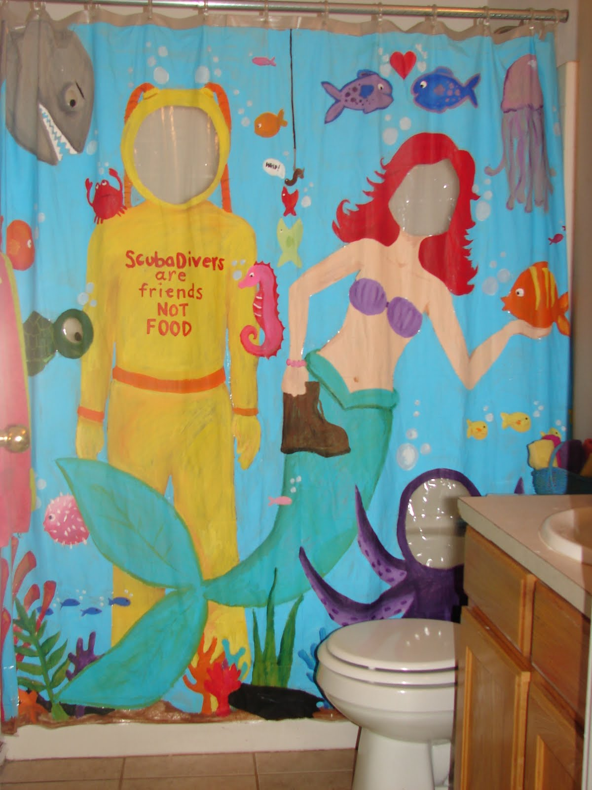 Sytyc Painted Shower Curtain